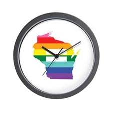 Wisconsin equality Wall Clock