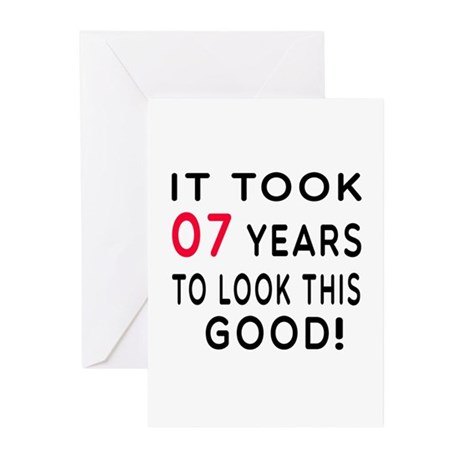 It Took 07 Birthday Designs Greeting Cards (Pk of