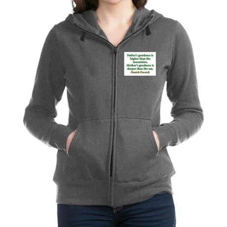 Fathers Goodness Is Higher Women's Zip Hoodie