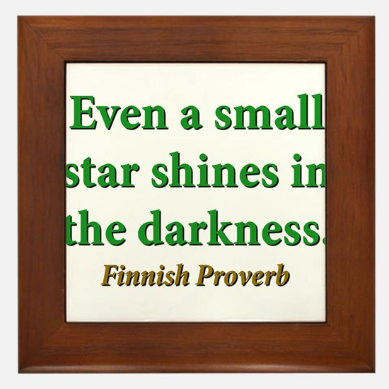 Even A Small Star Shines Framed Tile