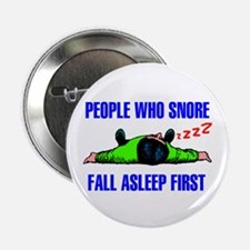 """PEOPLE WHO SNORE 2.25"""" Button (10 pack)"""