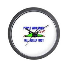 PEOPLE WHO SNORE Wall Clock