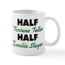 Half Fortune Teller Half Zombie Slayer Mugs