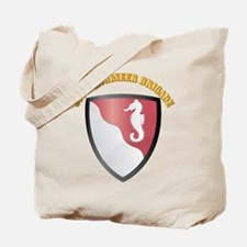 SSI - 36th Engineer Brigade with Text Tote Bag