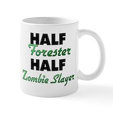 Half Forester Half Zombie Slayer Mugs
