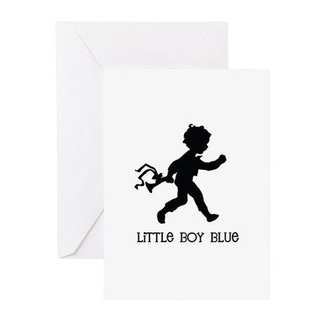 Little Boy Blue Greeting Cards (Pk of 10)