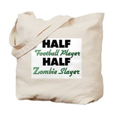Half Football Player Half Zombie Slayer Tote Bag