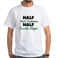 Half Flight Technician Half Zombie Slayer T-Shirt