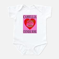 Camellia Chinese Rose I Love Infant Bodysuit