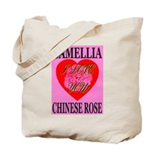 Camellia Chinese Rose I Love Tote Bag