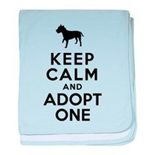 American Staffordshire Terrier baby blanket