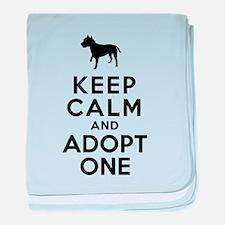 American Staffordshire Terrier baby blanket