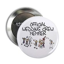 "Official Wedding Crew M 2.25"" Button (10 pack)"