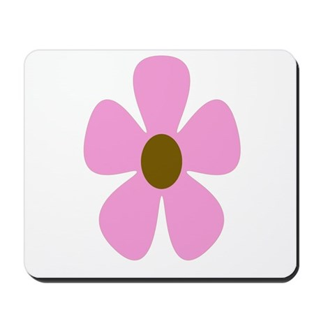 Pink Brown Daisy Mousepad