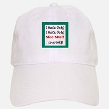 I Hate Golf Baseball Baseball Cap