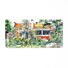 The Cottage, Carl Larsson p Aluminum License Plate
