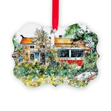 The Cottage, Carl Larsson paintin Ornament
