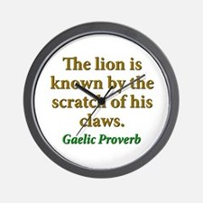 The Lion Is Known Wall Clock