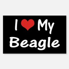 I Heart My Beagle Decal