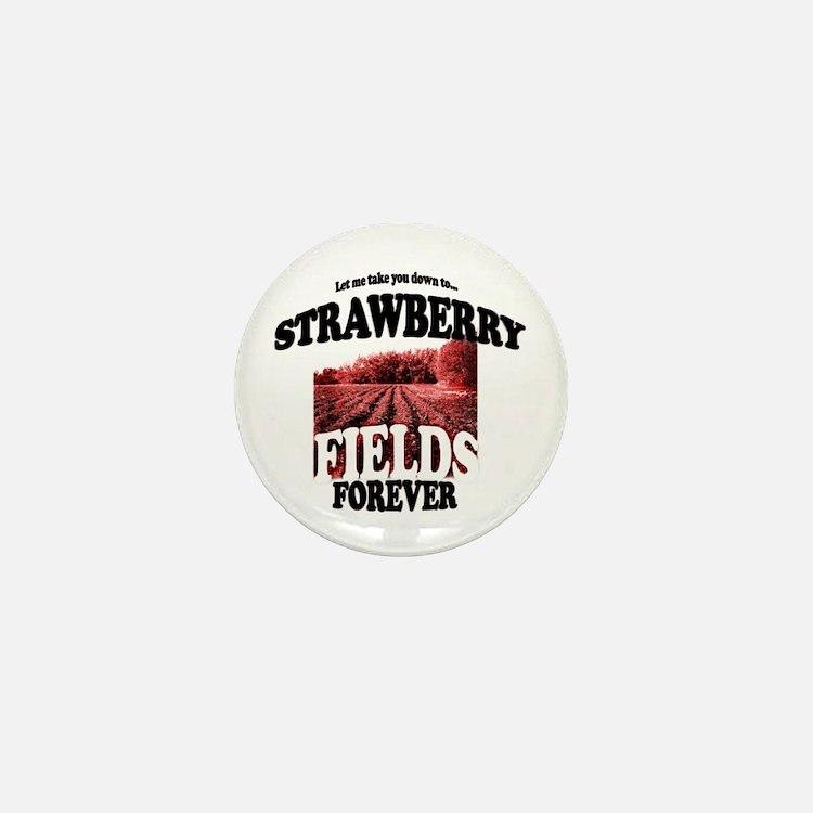 Strawberry Fields Beatle Mini Button