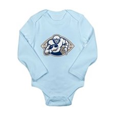 American Football Runningback Star Front Body Suit