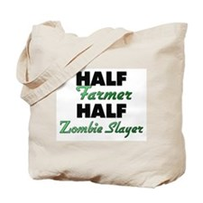 Half Farmer Half Zombie Slayer Tote Bag