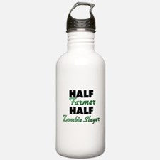 Half Farmer Half Zombie Slayer Water Bottle
