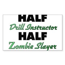 Half Drill Instructor Half Zombie Slayer Decal