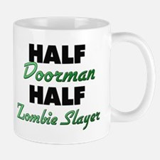 Half Doorman Half Zombie Slayer Mugs