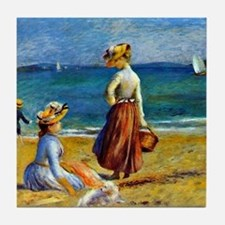 Renoir - Figures on the Beach Tile Coaster