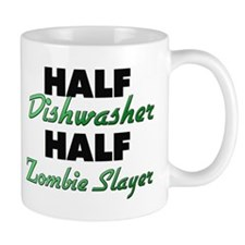 Half Dishwasher Half Zombie Slayer Mugs