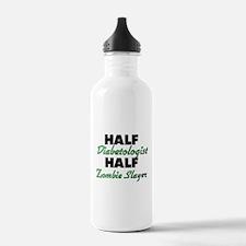Half Diabetologist Half Zombie Slayer Water Bottle
