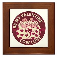 Cow Love Framed Tile