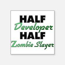 Half Developer Half Zombie Slayer Sticker