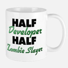 Half Developer Half Zombie Slayer Mugs