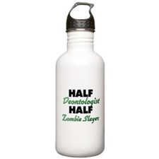 Half Deontologist Half Zombie Slayer Water Bottle