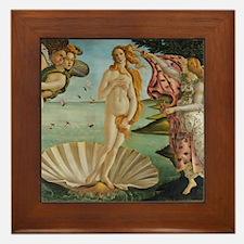 Birth Of Venus (by Sandro Botiicelli) Framed Tile