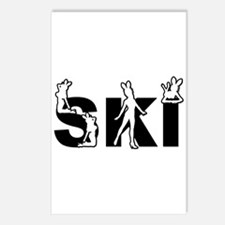 SKI BUNNIES Postcards (Package of 8)