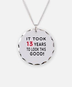 It Took 13 Birthday Designs Necklace Circle Charm