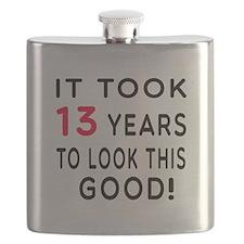 It Took 13 Birthday Designs Flask