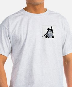 TNA POLICE BADGE Ash Grey T-Shirt