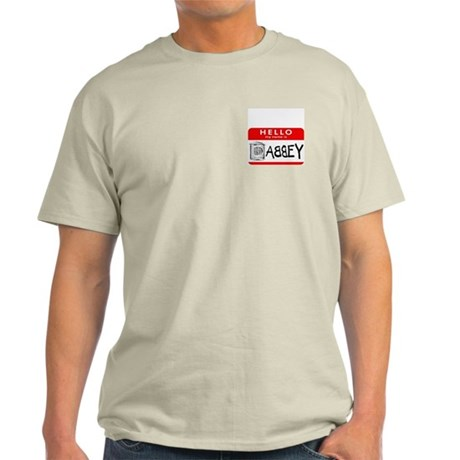 Hello, my name is Abbey Ash Grey T-Shirt