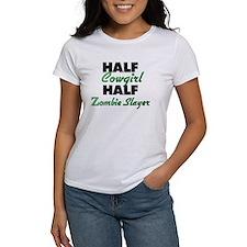 Half Cowgirl Half Zombie Slayer T-Shirt