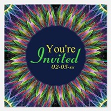 Flower eye mandala Invitations