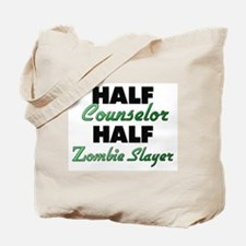 Half Counselor Half Zombie Slayer Tote Bag