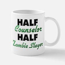 Half Counselor Half Zombie Slayer Mugs