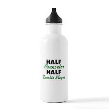 Half Counselor Half Zombie Slayer Water Bottle