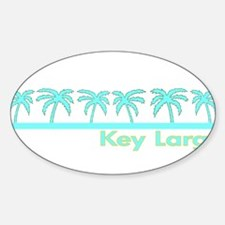 Key Largo, Florida Oval Decal