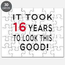 It Took 16 Birthday Designs Puzzle