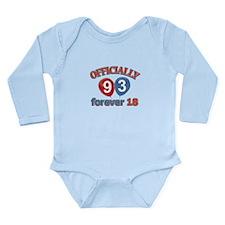 Officially 93 forever 18 Long Sleeve Infant Bodysu